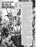 How the News Broke: The Fall of Constantinople