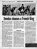 Sweden Chooses a French King
