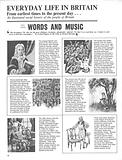 Everyday Life in Britain: Words and Music