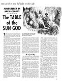 Adventures in Archaeology: The Table of the Sun God