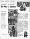 Their Diary of the Week: The Mighty Macready