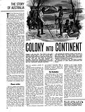 The Story of Australia: Colony into Continent