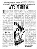 The Story of South America: Adios, Argentina!