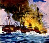 They Sailed the Seven Seas: 'Fire Down Below!'