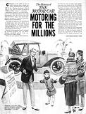 The History of the Motor Car: Motoring For the Millions