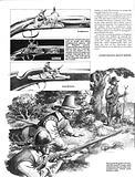 Various types of early flintlock guns