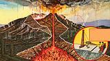 Mount Vesuvius volcanic eruption