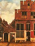 'A Street in Delft' painting by Jan Vermeer