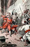 Englishmen fighting the Moors