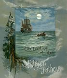 The Landing of the Pilgrim Fathers - Book cover.