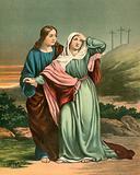 St John leading Mary home