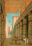 Interior of a palace of an Egyptian ruler