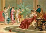 Greek dancing during dinner