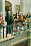 George Washington taking the oath as President