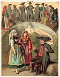 German costume, Bayern Frankische-Schweiz