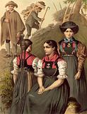 German costume, Tyrol, Lechthal