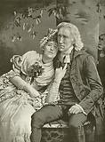 Henry Irving as The Vicar and Ellen Terry as Olivia