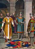 Death of Odoacer, killed by Theodoric, king of the Ostrogoths