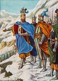 Otto I, Holy Roman Emperor, invading Italy in 951