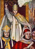 Pope Benedict IX elected Pope at the age of 12, in 1032