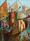 The old Doge Enrico Dandolo sacking Constantinople, 1204