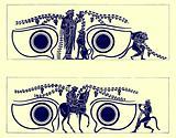 Dionysos, Hephaistos and Satyrs