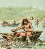 Ancient Briton in his Boat