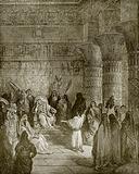 Joseph interpreting pharaoh's dream