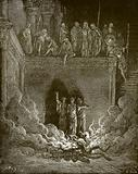 Shadrach, Meshach and Abed-Nego in the fiery furnace