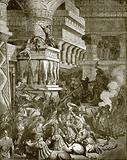 Jonathan destroying the temple of Dagon