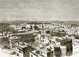 View of Jerusalem from over the pool of Hezekiah