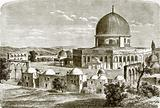 The mosque of Omar – site of the temple at Jerusalem