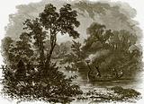 Salteaux Indians fire-fishing
