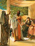 Elijah rebuking Ahab
