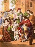 Christ blessing little children