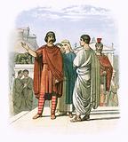Caractacus at Rome in AD 52