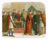 King William I pays court to the English leaders