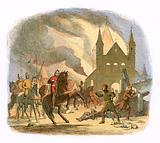 William I receiving a fatal hurt at Mantes