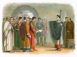 Becket forbids the earl of Leicester to pass sentence on him
