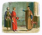 King Edward I threatens the lord marshal