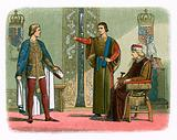 King Henry VI and the dukes of York and Somerset