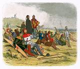 The English wait for the French at Crecy