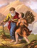 Abraham and Isaac on their way to Moriah