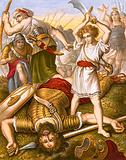 David slaying Goliath
