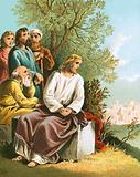 Jesus weeping over Jerusalem