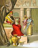 Arioch brings in Daniel to the king