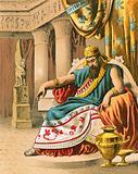 King Darius troubled about Daniel