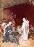 Jesus raising Lazarus from the dead