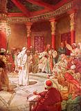Jesus brought before Caiaphas and the Council