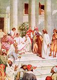 Jesus brought before Pilate